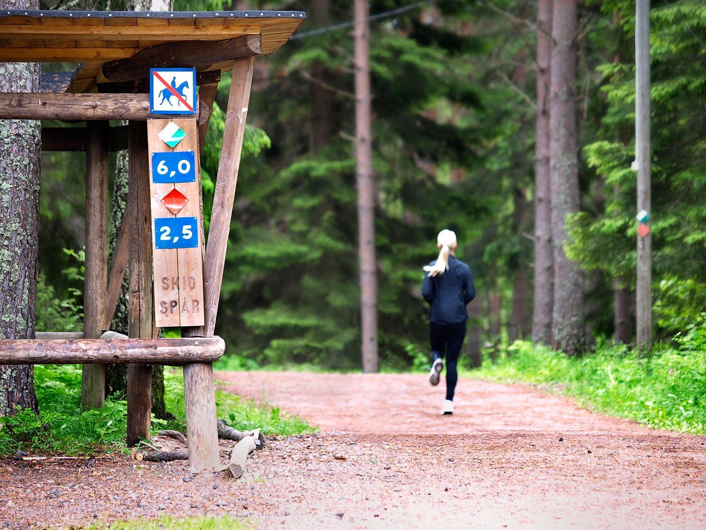 Motionsspår i Hemlingby friluftsområde