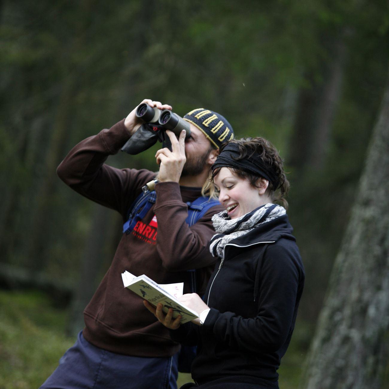 Smålandsbilder.se,  © Värnamo Näringsliv AB , Fågelskådning och vandring i naturreservat Draven