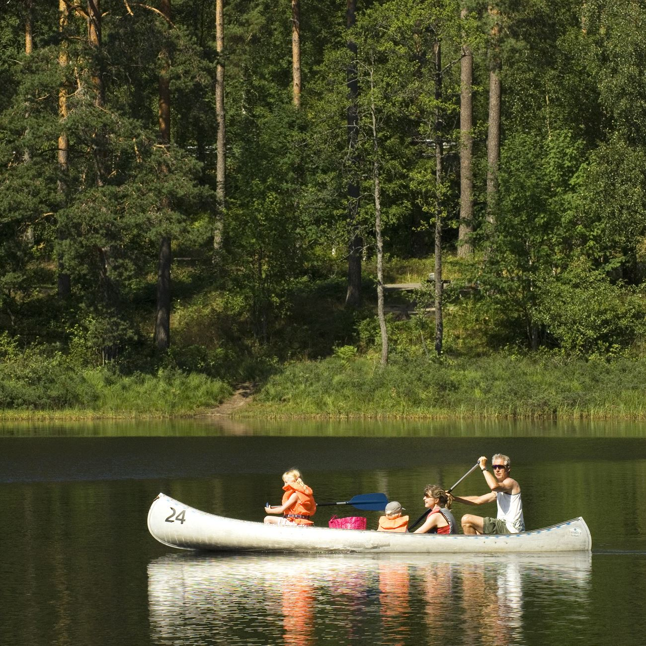 Smålandsbilder.se,  © Värnamo Näringsliv AB , Prostsjön - Kanu, Minigolf und Freizeit