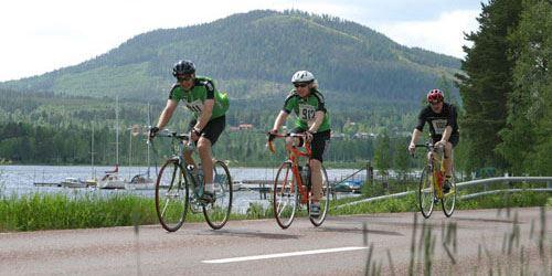 Around the Siljanlake by bike