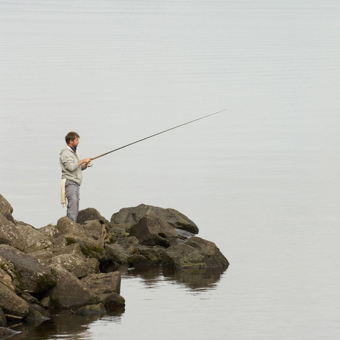 Foto: Smålandsbilder.se,  © Värnamo Näringsliv AB , Fiske i Herrestadssjön och Nästasjön