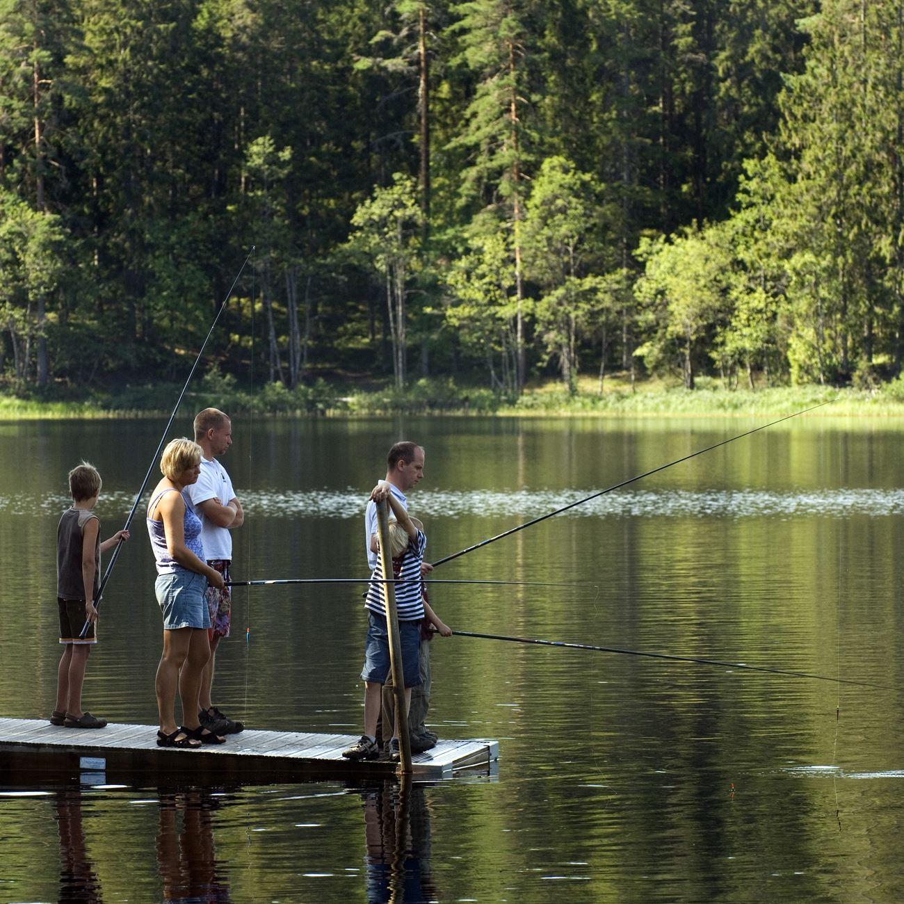 Foto: Smålandsbilder.se,  © Värnamo Näringsliv AB , Fiske i Helgasjön