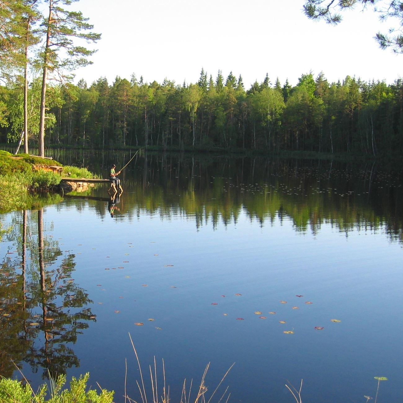 Angeln im See Annebergssjön