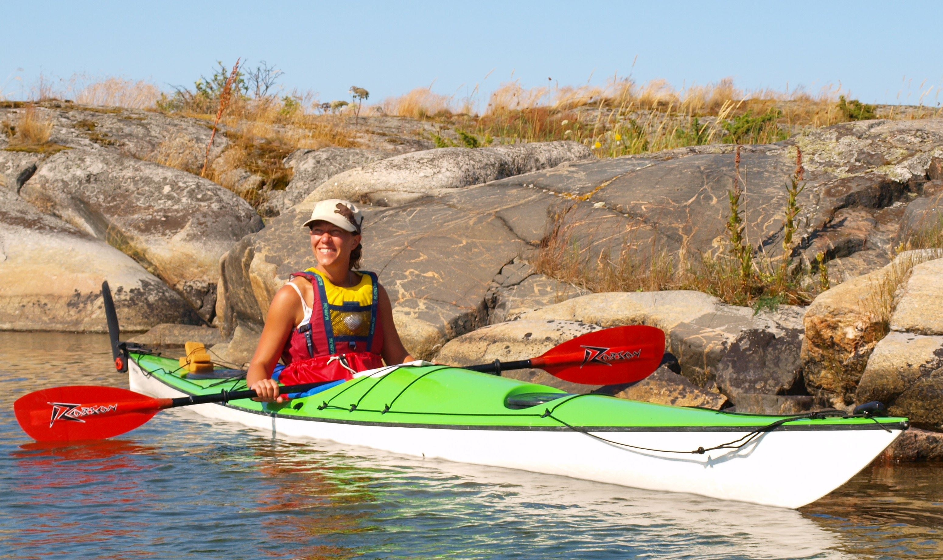 Selfguidade tour in a sea kayak