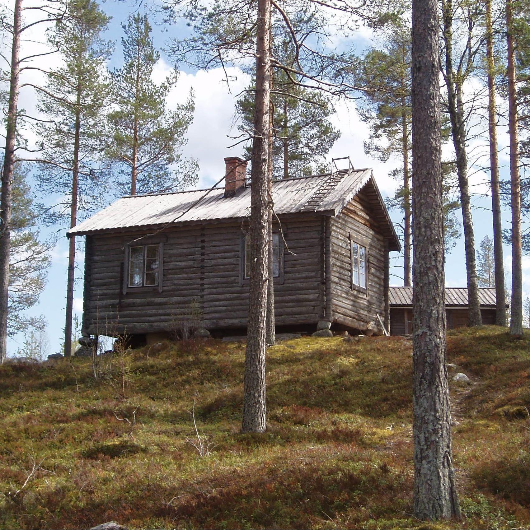 Lena Liljemark,  © Lena Liljemark, Skinnenstugan, raststuga i Lögdö vildmark