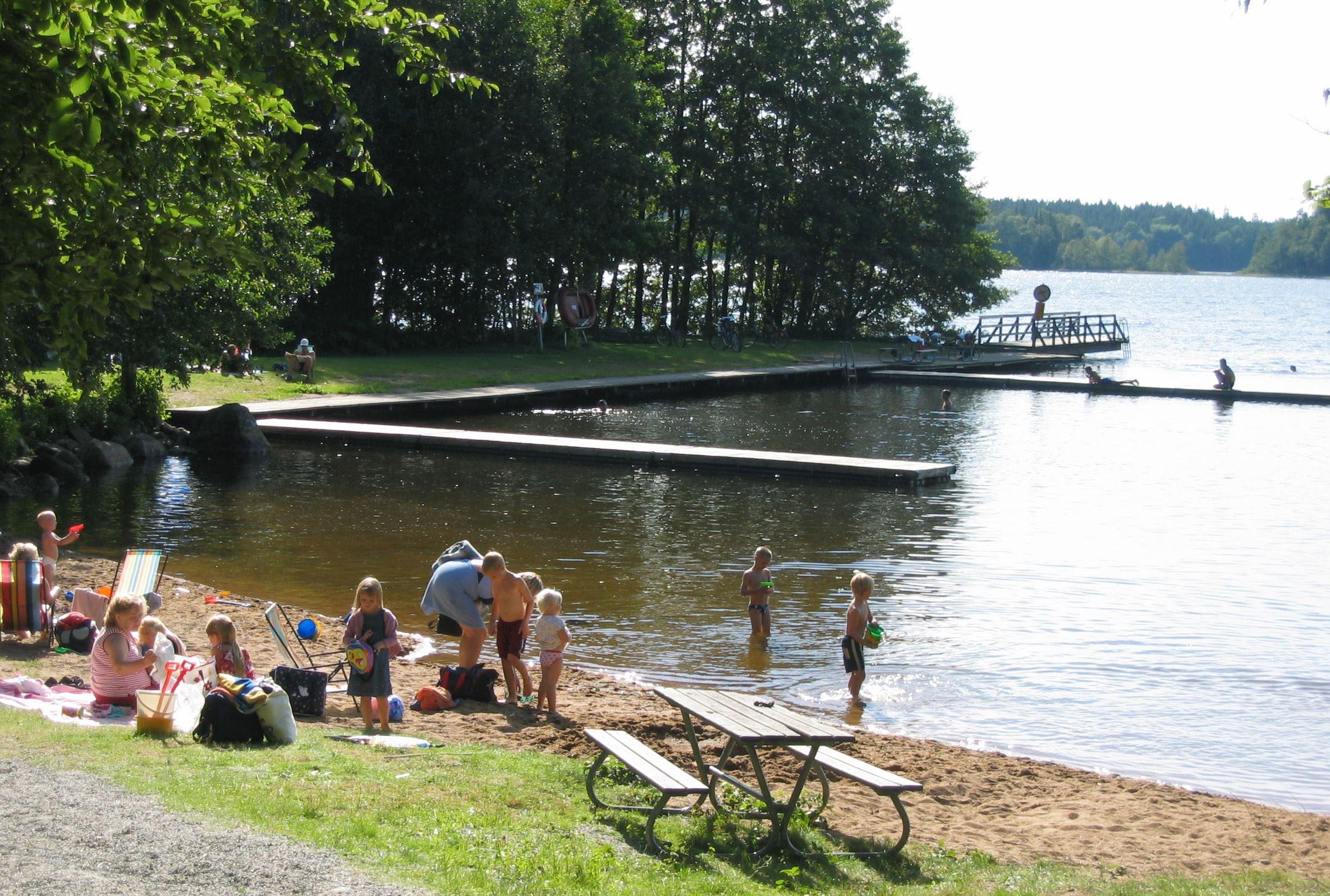 Swimming area Blötan - Lake Stora Hensjön