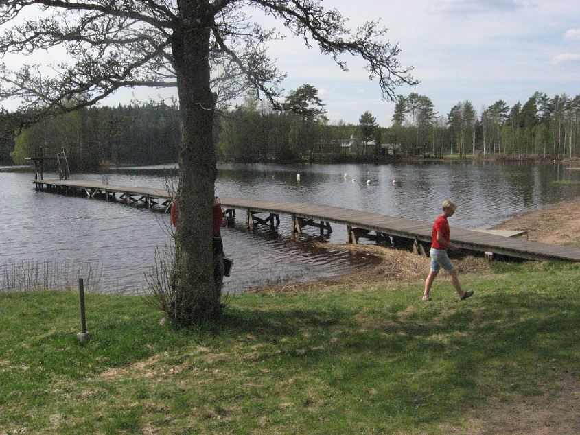 Sandsjöbadet bathing area, Uppsjön lake