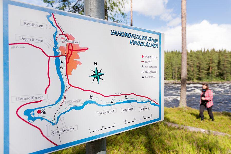 Calle Bredberg,  © Umeå Turistbyrå, Vindelforsarns vandringsled