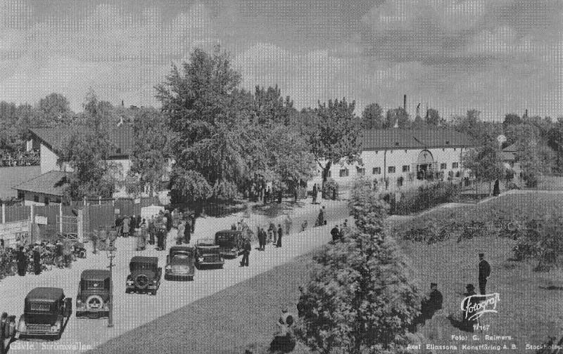Ur Gävle Stadsarkivs samlingar., Strömvallen under 1930-talet.