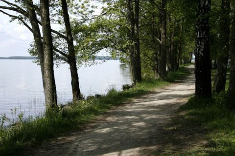 Fishing in lake Ivösjön