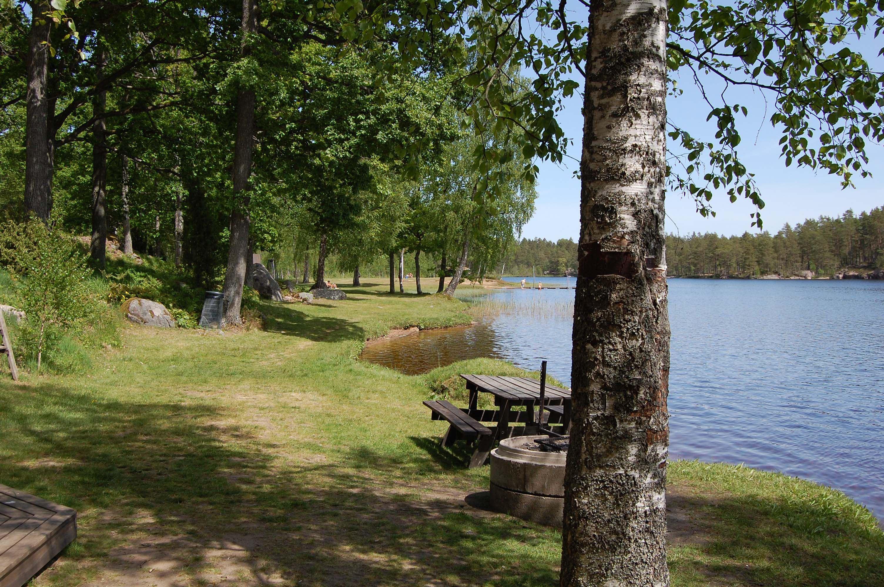 Naturcamping vid Stora Hammarsjön