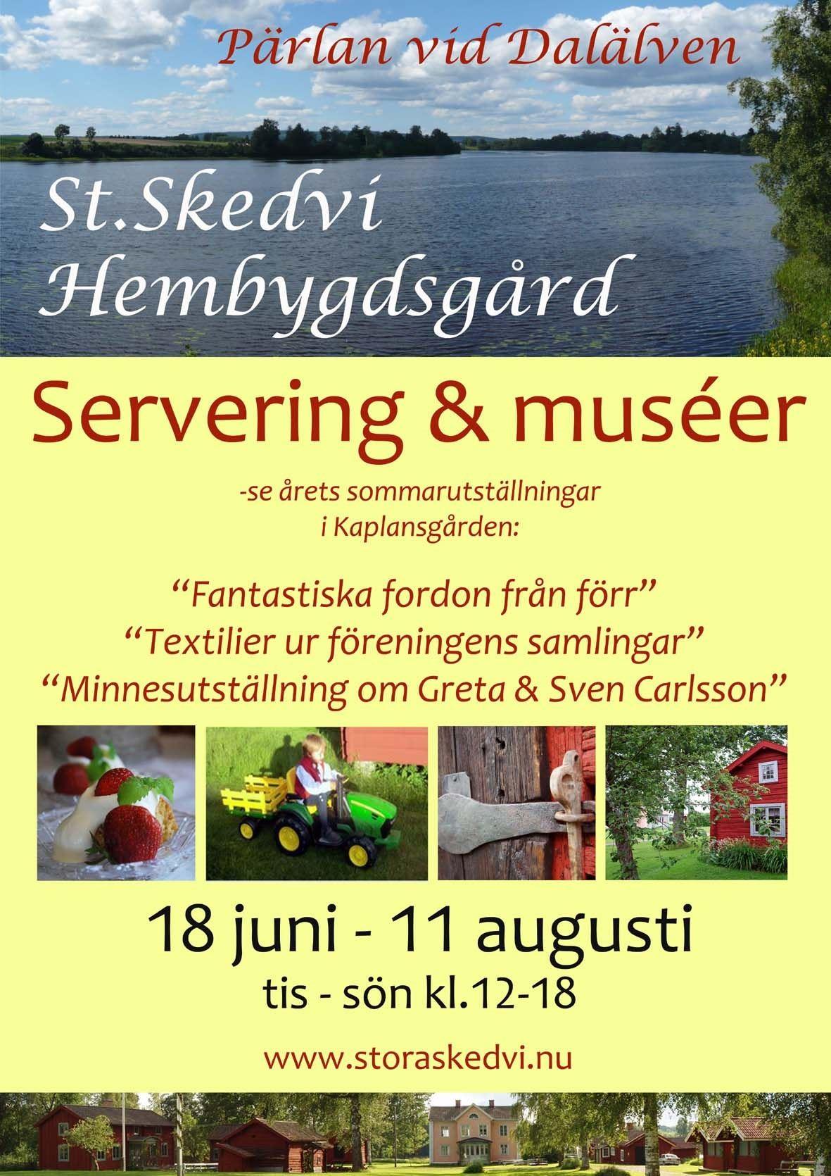 Sommarutställningar i Kaplansgården, St. Skedvi