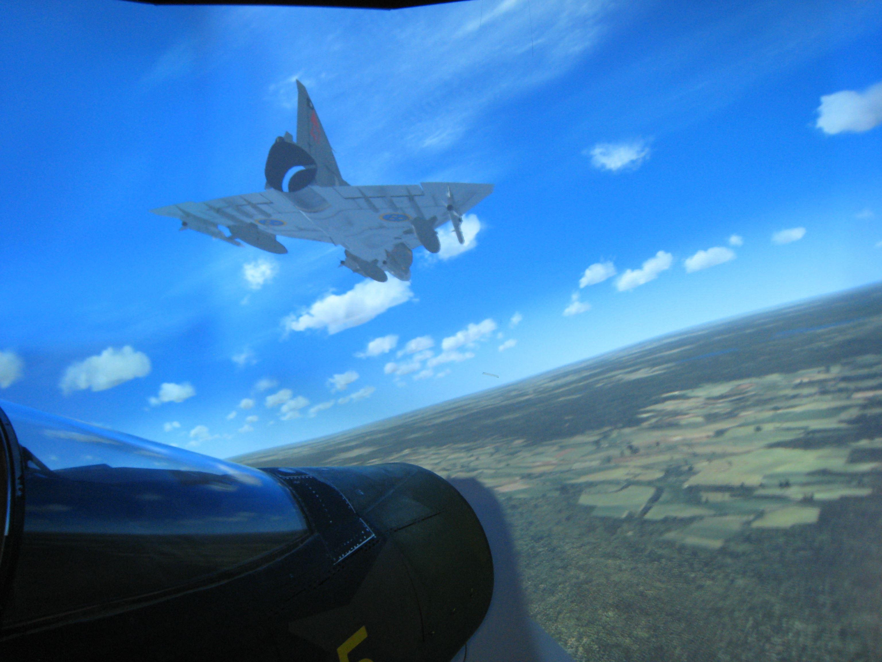 Vy från simulatorn