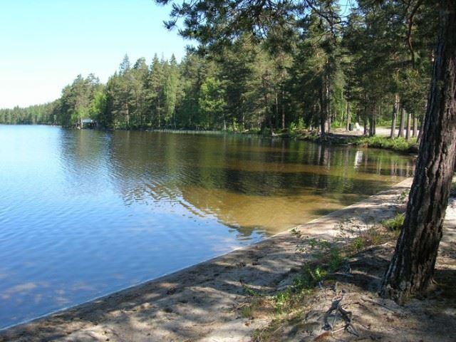 Badplats vid Bocksjön