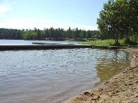 Badplats vid Färssjön