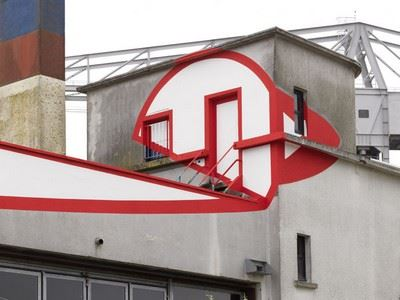 Felice Varini : Terrasse n°1
