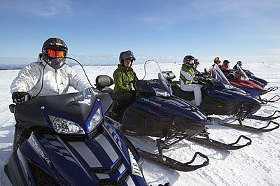 Foto: www.skotersafari.nu, Sälens snowscootersafari