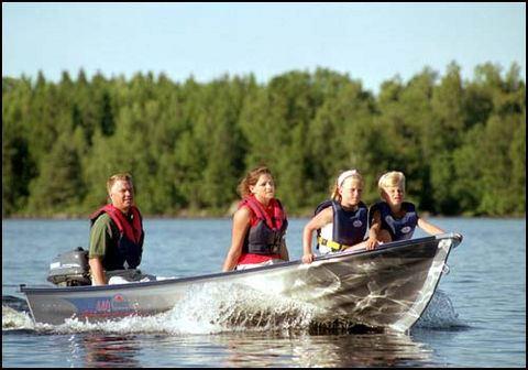 Renting boat - Lake Västra Silen