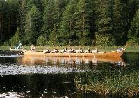 Kyrkbåtsrodd i Bollnäs