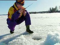 Vinterfiske i Bollnäs