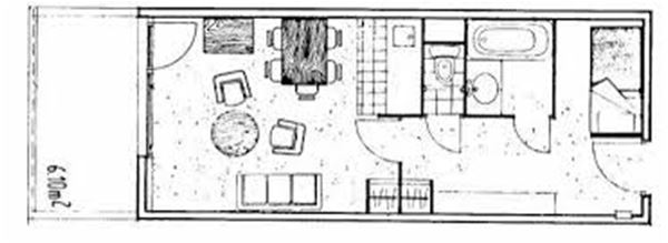 SCHUSS 211 / STUDIO 5 PERSONNES - 1 FLOCON BRONZE - CI