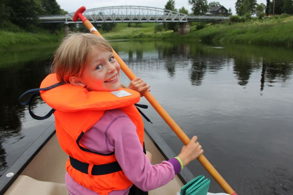 Canoeing in Ogna