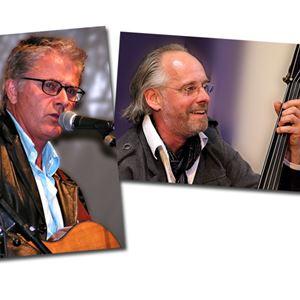 Mats Klingström och Lasse Larsson uppträder i Elimkapellet, Norrtälje