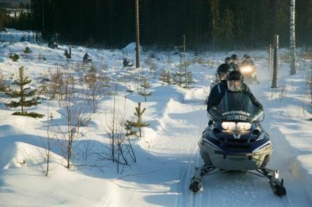 Jonas Strandberg,  © Bjurholms kommun, Snowmobile trails in Bjurholm