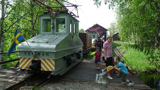 Robertsfors Bruksmuseum med bruksjärnväg