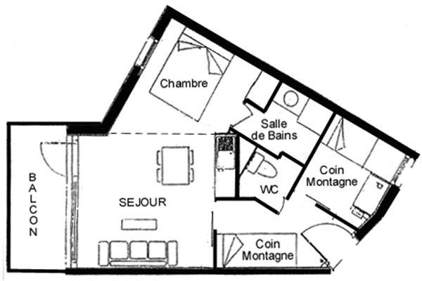 Leilighet for op til 6 personer med 2 rom på Chantelouve - Val d'Isere