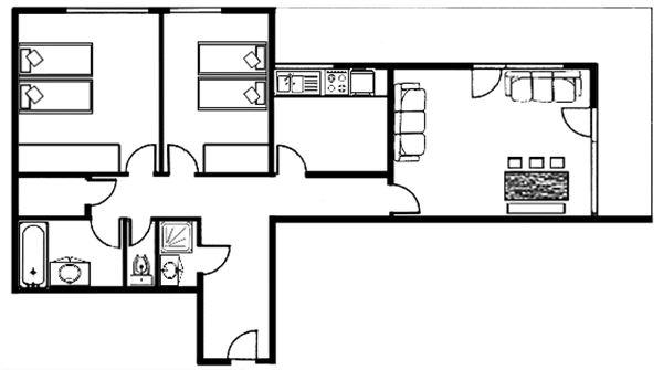 Lägenhet för upp till 8 personer med 3 rum på Grand Paradis - Val d'Isère