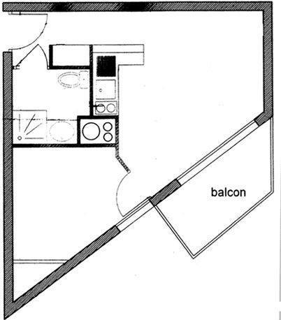 Leilighet for opp til 4 personer med 2 rom på Oreades - Val d'Isère