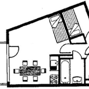 Leilighet for opp til 4 personer med 1 rom på Val d'Isère Village - Val d'Isère