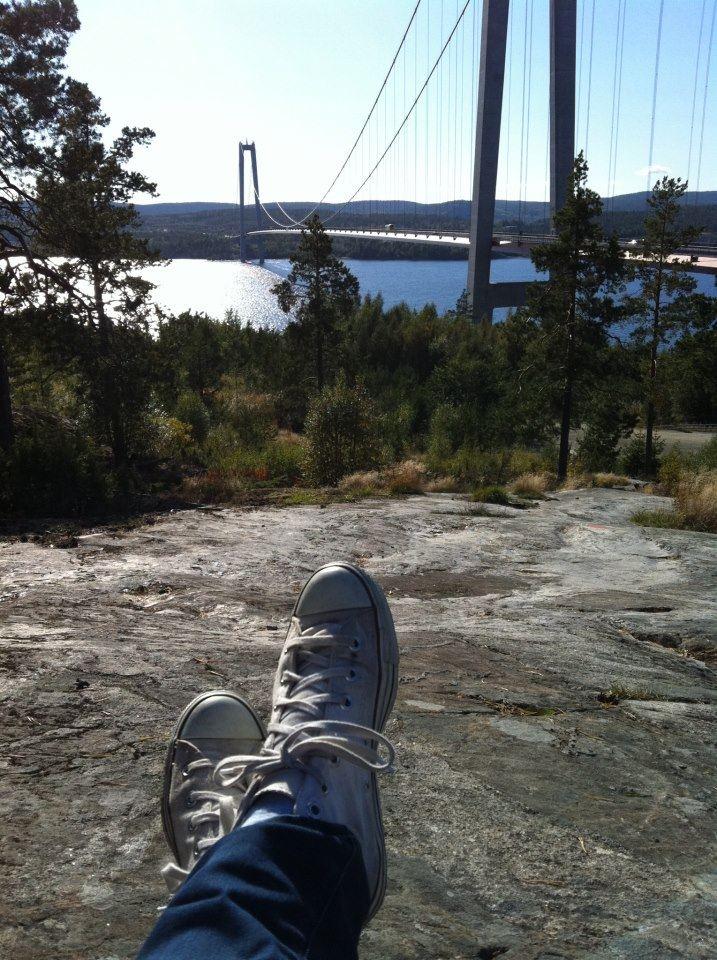 foto: Jessica Sjögren, Avkoppling med utsikt över Högakustenbron
