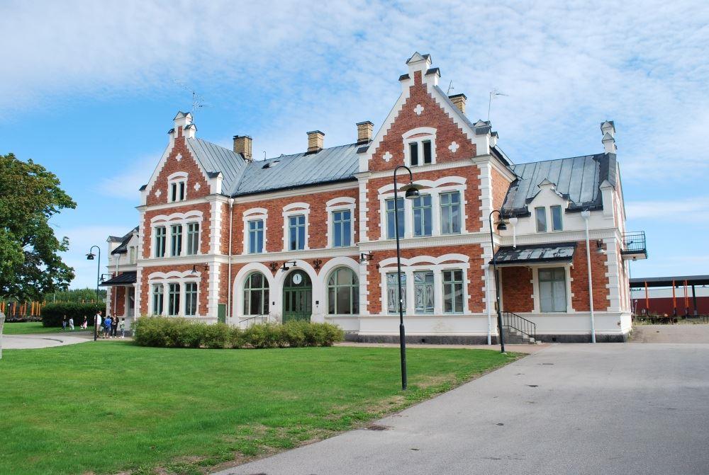 Marie Steffansson, Vansbro railway station.