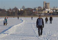 Vinteraktiviteter på Brunnsjön