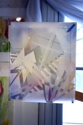 Ann Jansson, Akvarell med blästrat glas