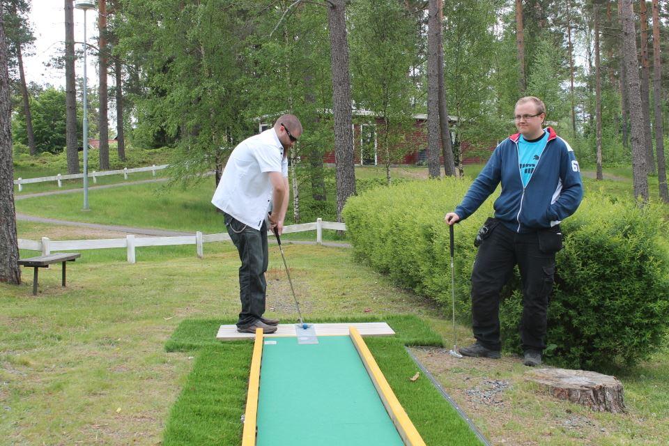 Play mini golf in Vaggeryds municipality