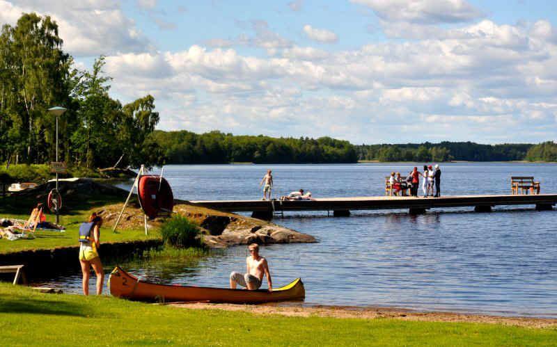 © Kärrasands Camping, Badestrand Kärrasand - Åsnen/Urshult