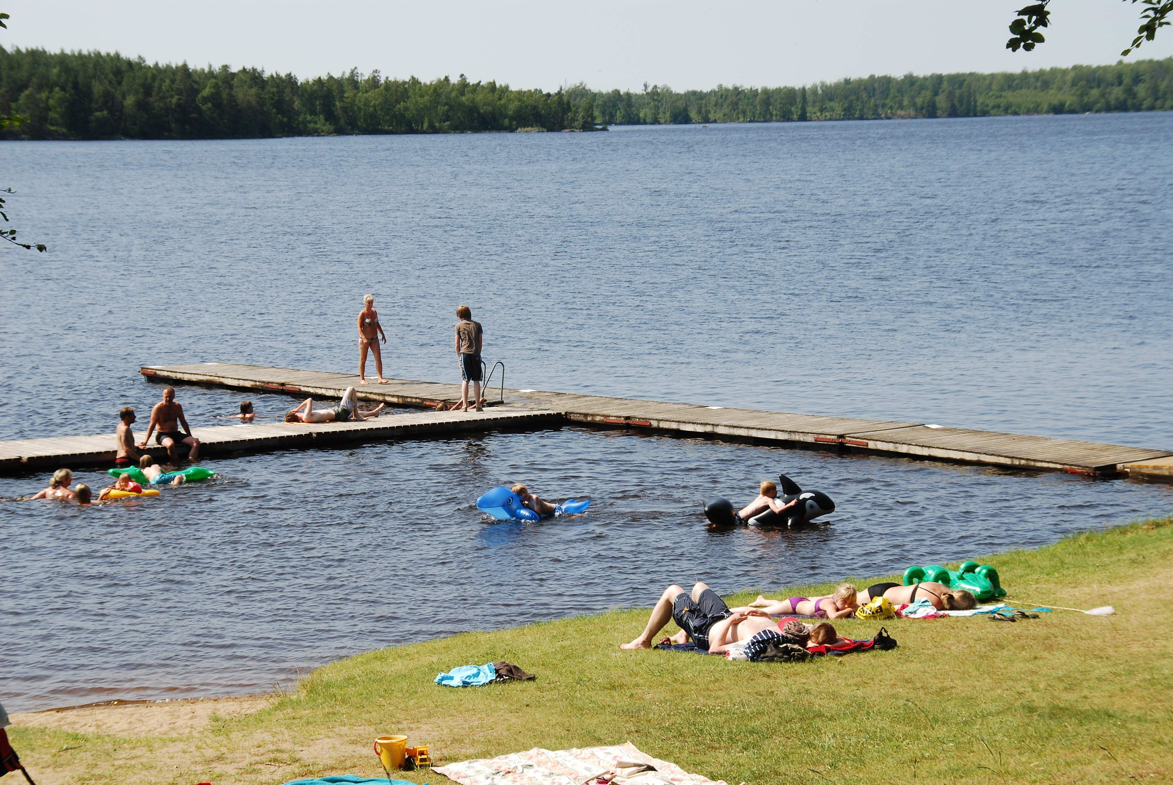 © Urshults Camping, Swimming area Rävabacken - Åsnen/Urshult