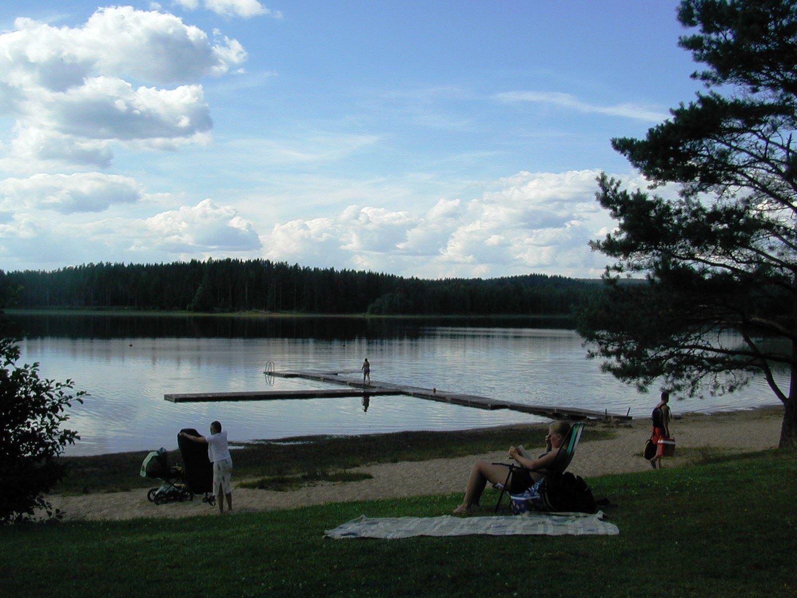 Bada i Långasjön, Vaggeryds kommun