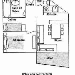 Leilighet for opp til 4 personer med 2 rom på Le Lac du Lou - Val Thorens