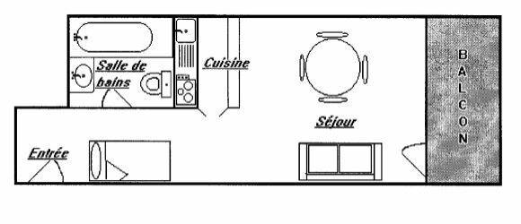 Lägenhet för upp till 2 personer med 1 rum på Roc De Peclet - Val Thorens