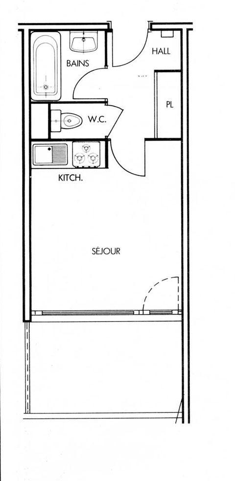 Leilighet for opp til 4 personer med 1 rom på Serac - Val Thorens