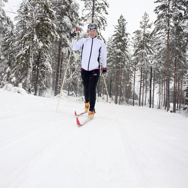 Cross-country skiing in Gagnef