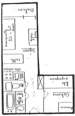 ARCELLE 414 / STUDIO 3 PERSONNES - 1 FLOCON BRONZE - CI