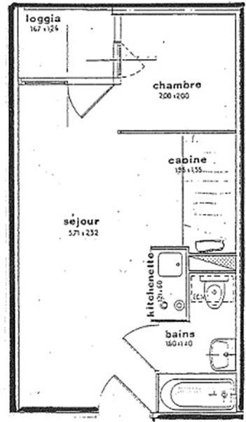 CIMES DE CARON 1501 / STUDIO 4 PERSONNES - 1 FLOCON BRONZE - CI