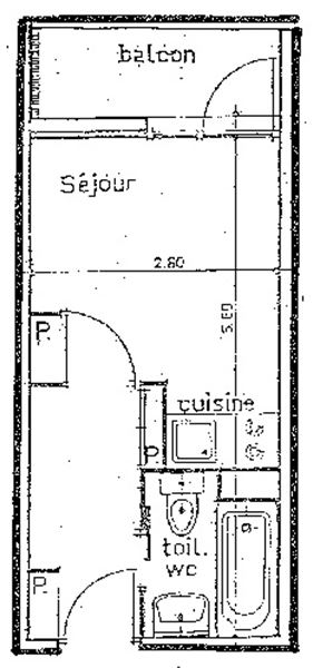 HAUTS DE LA VANOISE 319 / STUDIO 2 PERSONNES - 1 FLOCON BRONZE - CI