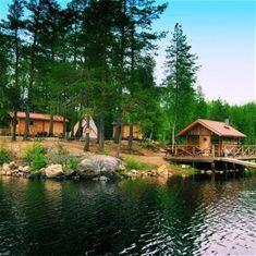 Bredsjöns vildmarksudde i Lögdö vildmark
