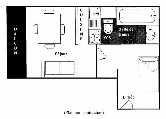 SERAC 4 / STUDIO 3 PERSONNES - 2 FLOCONS BRONZE - VTI
